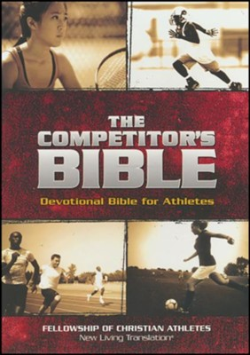 The Competitor's Bible: NLT Devotional Bible for Competitors, Brown Leathertouch  -