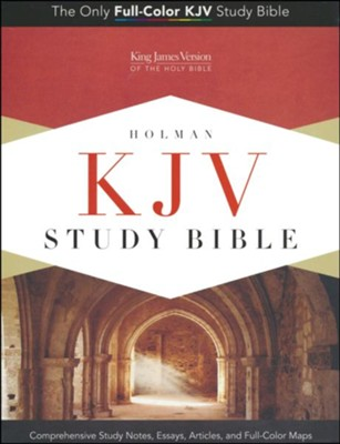 KJV Study Bible, Canary and Slate Grey LeatherTouch  -