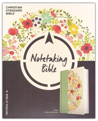 CSB Notetaking Bible, Sage Cloth Over Board  -