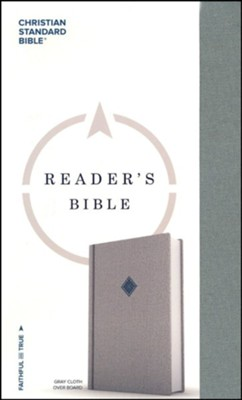 CSB Reader's Bible, Gray Cloth Over Board  -