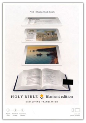 NLT Filament Bible--soft leather-look, blue (indexed)  -
