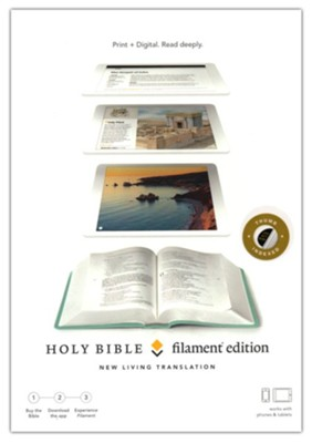 NLT Filament Bible--soft leather-look, teal (indexed)  -