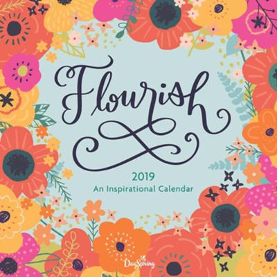 2019 Flourish, Wall Calendar  -