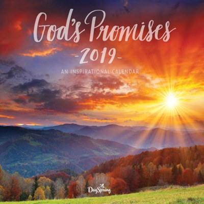 2019 God's Promises, Wall Calendar  -