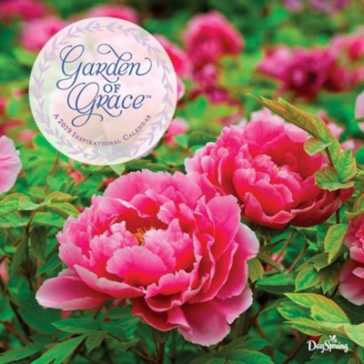2019 garden of grace wall calendar