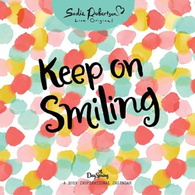 2019 Keep On Smiling, Wall Calendar  -