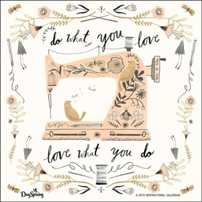 2019 Do What You Love, Wall Calendar  -
