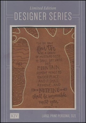 KJV Large Print Personal Size Reference Bible, Natural Faith LeatherTouch  -