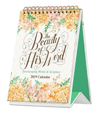 2019 The Beauty of His Word, Desktop Calendar  -