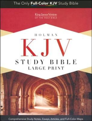 KJV Holman Study Bible Large Print Edition, Dark Teal LeatherTouch   -