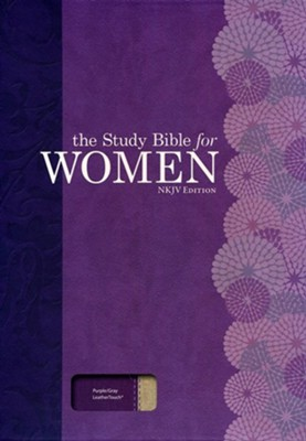 NKJV The Study Bible for Women, Purple and Gray Linen  -