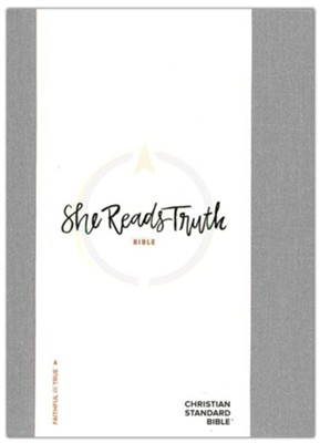 CSB She Reads Truth Bible, Gray Linen   -