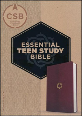 CSB Essential Teen Study Bible, Walnut LeatherTouch  -