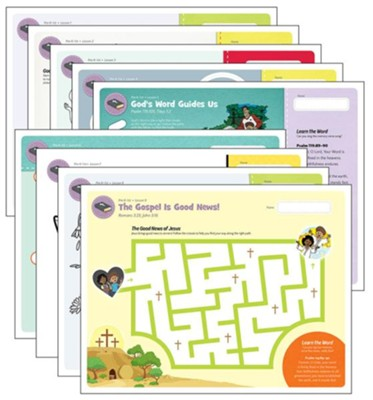 Answers Bible Curriculum PreK-1 Unit 1 Take Home  Sheets (1 Pack; 2nd Edition)  -