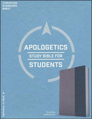 CSB Apologetics Study Bible for Students, Gray and Navy LeatherTouch  -     By: Sean McDowell