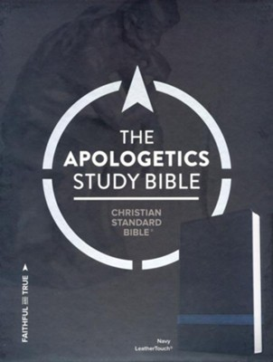 CSB Apologetics Study Bible, Navy LeatherTouch  -
