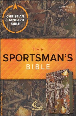 CSB Sportsman's Compact Large-Print Bible--soft leather-look, mothwing camouflage  -