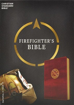 CSB Firefighter's Bible, Burgundy LeatherTouch  -