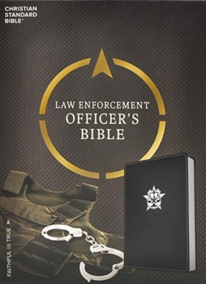CSB Law Enforcement Officer's Bible, Black LeatherTouch  -