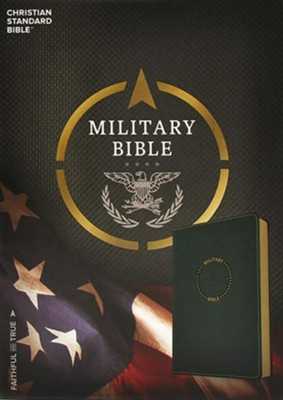 CSB Military Bible, Green LeatherTouch for Soldiers  -