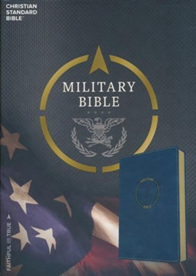 CSB Military Bible, Royal Blue LeatherTouch for Airmen  -
