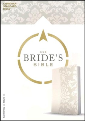 CSB Bride's Bible, White LeatherTouch  -