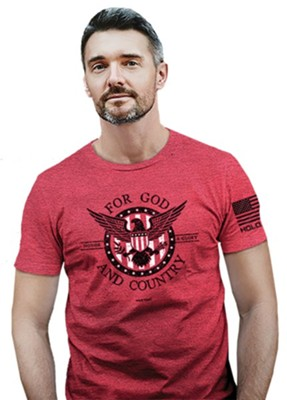 For God and Country Shirt, Heather Red, 3X-Large  -