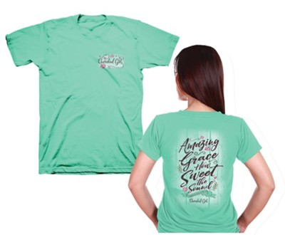 Amazing Grace Shirt, Cool Mint Green, 3X-Large  -