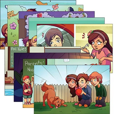 Answers Bible Curriculum PreK-1 Unit 6 Justin & Jessie Story Posters (2nd Edition)  -
