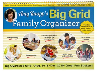 2019 Amy Knapp's Big Grid Family Organizer Wall Calendar  -     By: Amy Knapp