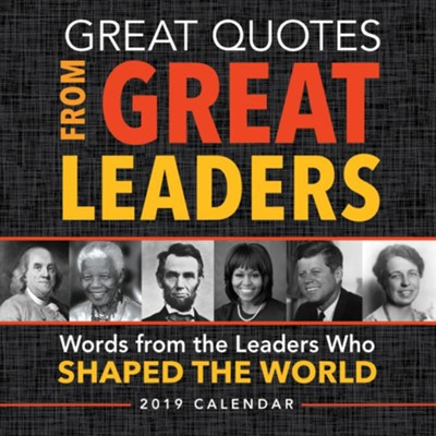 2019 Great Quotes from Great Leaders Boxed Calendar  -