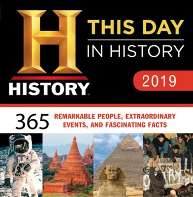2019 History Channel This Day in History Boxed Calendar  -     By: History Channel