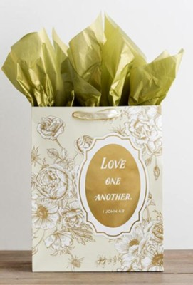 Love One Another, Gold Foil Stamped, Giftbag, Large  -