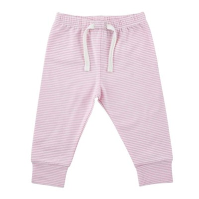 Little Blessing Pants, Cream and Pink, 0-3 Months  -