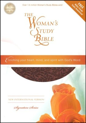 NIV The Woman's Study Bible--soft leather-look, auburn (indexed)  -
