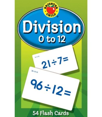 Brighter Child Division 0 to 12 Flash Cards   -