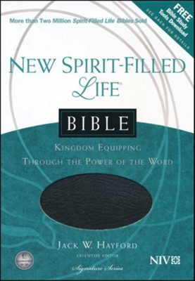 NIV New Spirit Filled Life Bible--bonded leather, black - Imperfectly Imprinted Bibles  -