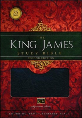 King James Study Bible, Second Edition, Bonded Leather, Black - Imperfectly Imprinted Bibles  -