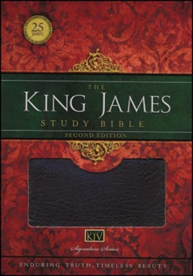 King James Study Bible, Second Edition, Bonded Leather, Burgundy  -