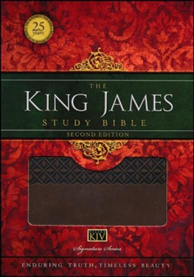 King James Study Bible, Second Edition, Leathersoft, Earth Brown--indexed  -