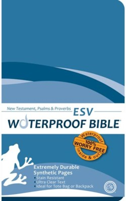ESV Waterproof Bible New Testament with Psalms & Proverbs, Blue Wave  -