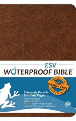 ESV Waterproof Bible, Brown   -