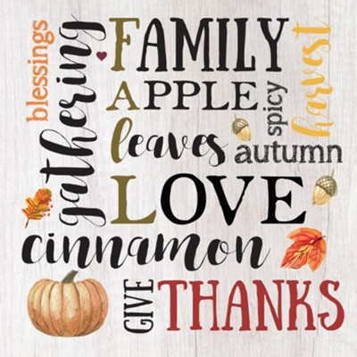 Fall Words Trivet  -