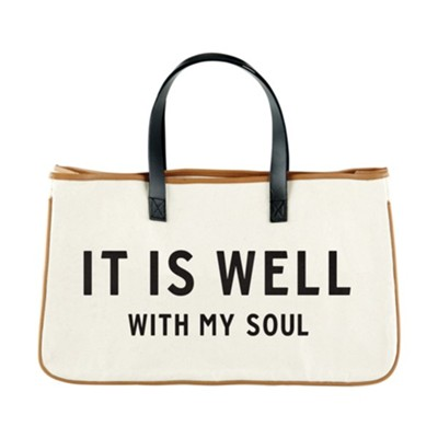 It Is Well, Canvas Tote  -