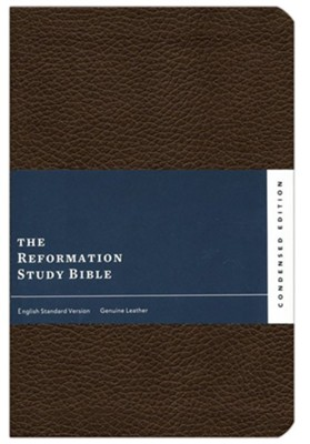 ESV Reformation Study Bible, Condensed Edition - Dark Brown, Premium Genuine Leather  -     Edited By: R.C. Sproul