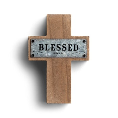 Blessed Cross, Wood and Metal, Small  -