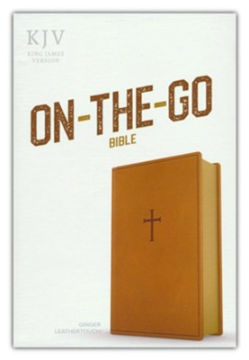 KJV On-the-Go Bible--soft leather-look, ginger  -