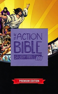 ESV Action Study Bible Girls, Virtual Leather, Purple   -
