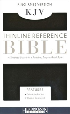 KJV, Thinline Reference Bible, Imitation leather, Black  -