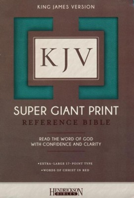 KJV Super Giant Print Reference Bible, Flexisoft Turquoise  -